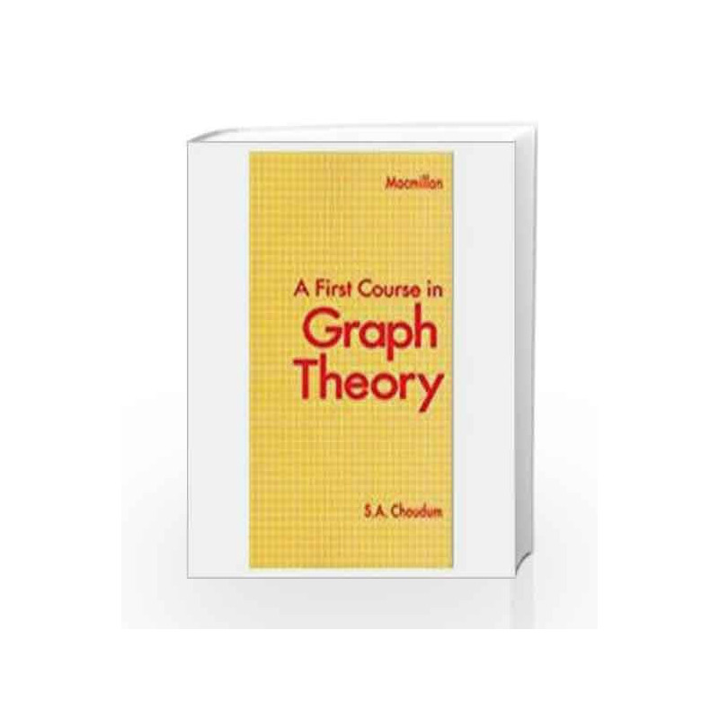 A First Course in Graph Theory by Choudum Book-9780333920404