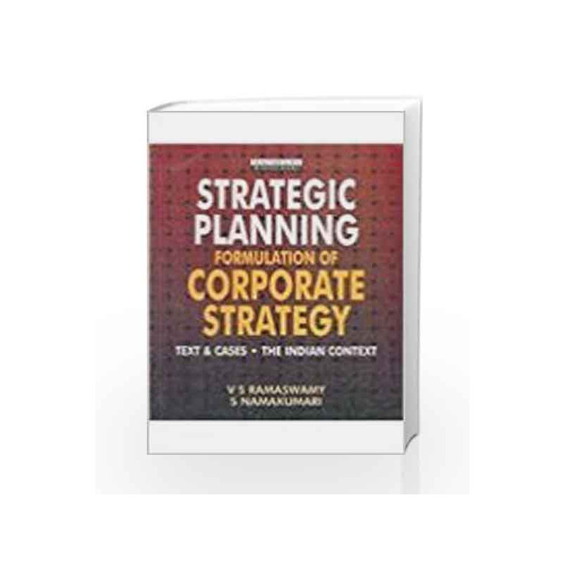 Strategic Planning: Formulation of Corporate Strategy by Spencer D & Vaughn D Book-9780333932452