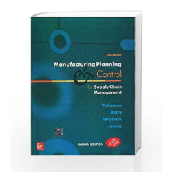 Manufacturing Planning and Control for Supply Chain Management by Thomas Vollmann Book-9780070598393