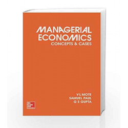 MANAGERIAL ECONOMICS by V Mote Book-9780070965188