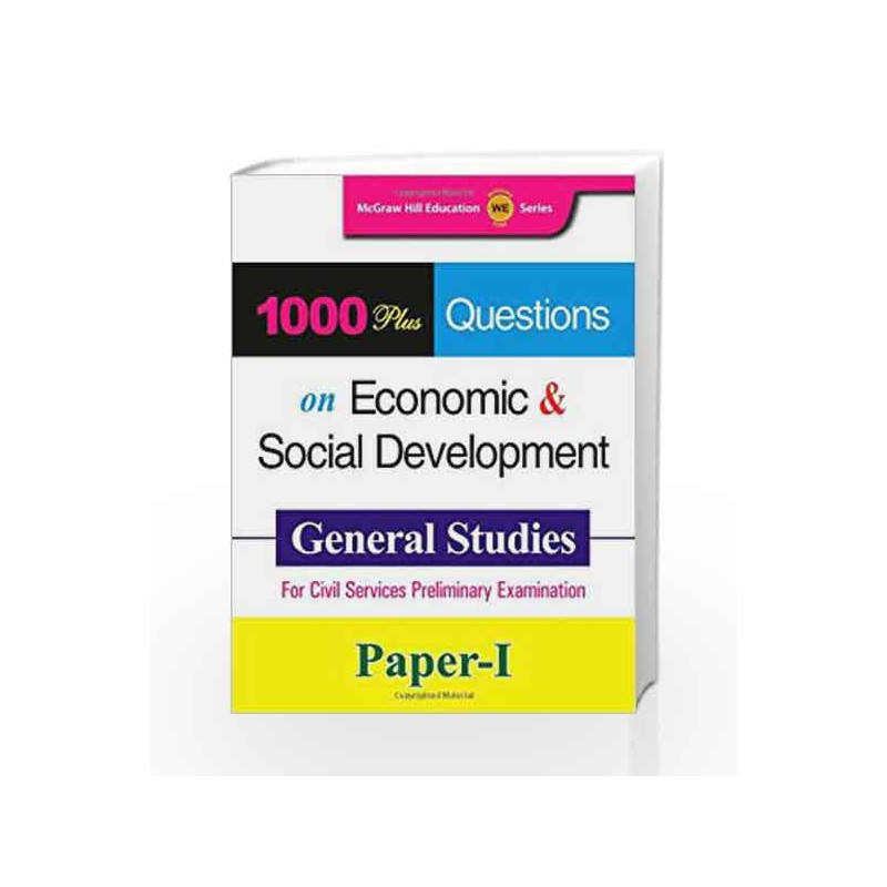 1000 Plus Questions on Economic and Social Development by Mcgraw-Hill Education Book-9781259001260