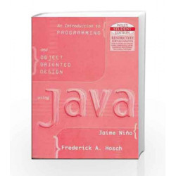 An Introduction to Programming and Object-Oriented Design with Java