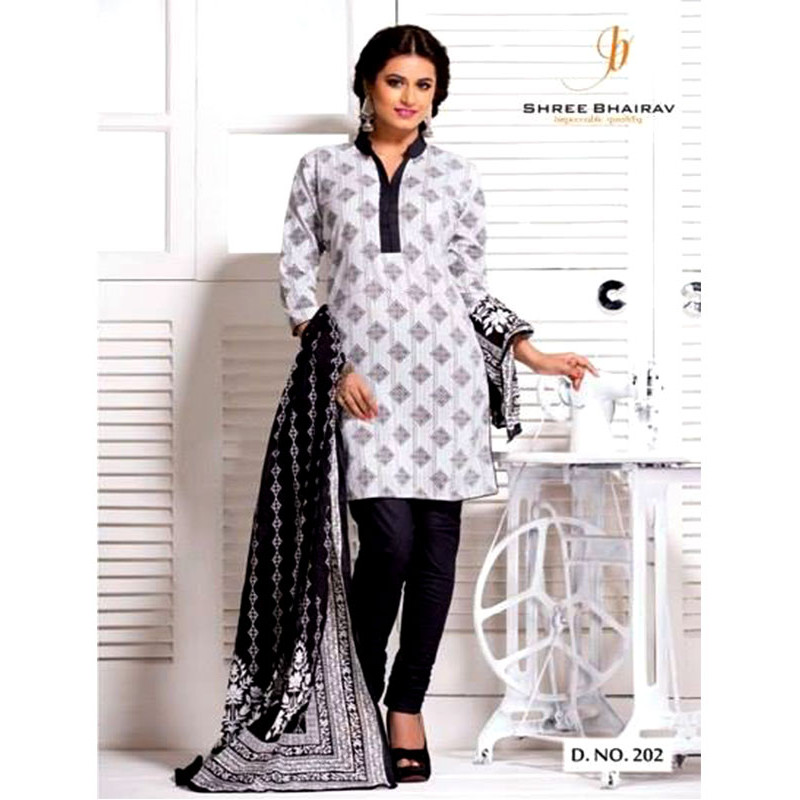 7abb8b9eb8 Designer Salwar suits (Black-white Printed)-Buy online Designer ...