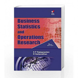 Business Statistics & Operations Research 3e by Rajagopalan SP Book-9788182092020
