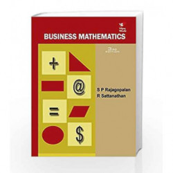 Business Mathematics 3e by Rajagopalan SP Book-9788182092037