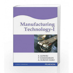Manufacturing Organization - 1 by S. Gowri Book-9788131710234