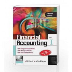 Financial Accounting - Vol. 1 by Mohammed Hanif Book-9789351341833