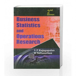 Business Statistics & Operations Research: 2nd Edition by S Rajagopalan Book-9780070085206