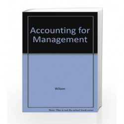 Accounting for Management by Wilson Book-9788183713498