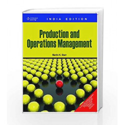 Production and Operations Management by Martin Starr Book-9788131508848