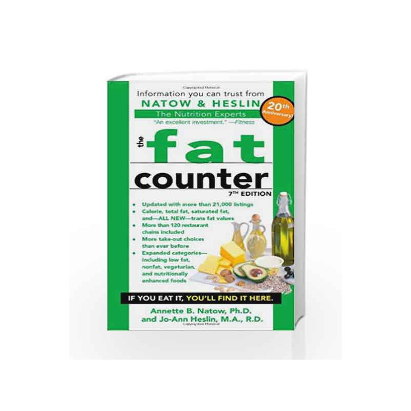 the fat counter 7th edition by natow annette b buy online the fat