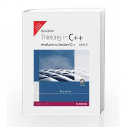 Thinking in C++, Vol. 1, 2e by ECKEL Book-9788131706619