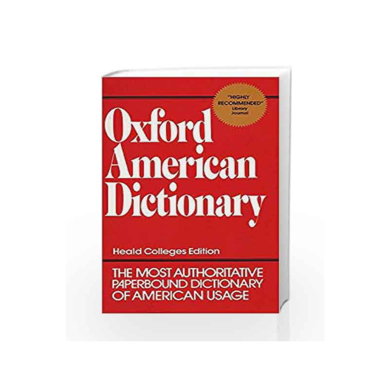 Oxford American Dictionary by NA-Buy Online Oxford American Dictionary Book  at Best Price in India:Madrasshoppe com