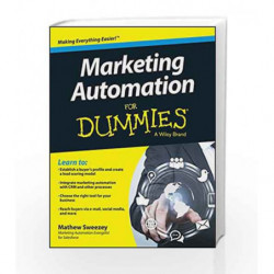 Marketing Automation for Dummies by Mathew Sweezey Book-9788126550432