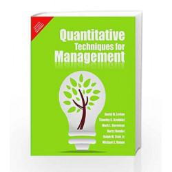 Quantitative Techniques for Management, 1e by Levine / Render Book-9788131772485