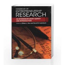 Handbook Of Enterpreneurship Research by Zoltan Book-9788132202363