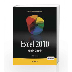 Excel 2010 Made Simple by Abbott Katz Book-9788132203513