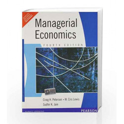 Managerial Economics, 4e by PETER/JAIN Book-9788177583861