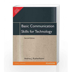 BASIC COMMUNICATION SKILLS FOR TECHNOLOG by RUTHERFOORD Book-9788177584073
