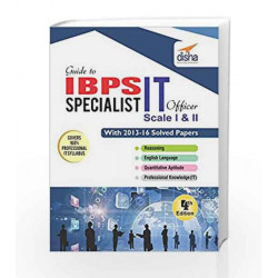 Comprehensive guide to IBPS-CWE specalist IT officer by Disha Experts Book-9788193288955