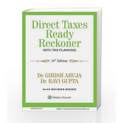 Direct Taxes Ready Reckoner with Tax Planning by Walker, Alice Book-9789351297147