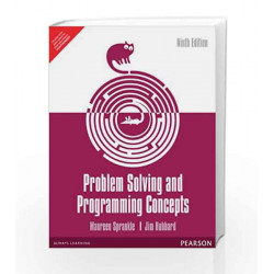 Problem Solving and Programming Concepts, 9e by Sprankle Book-9789332518841