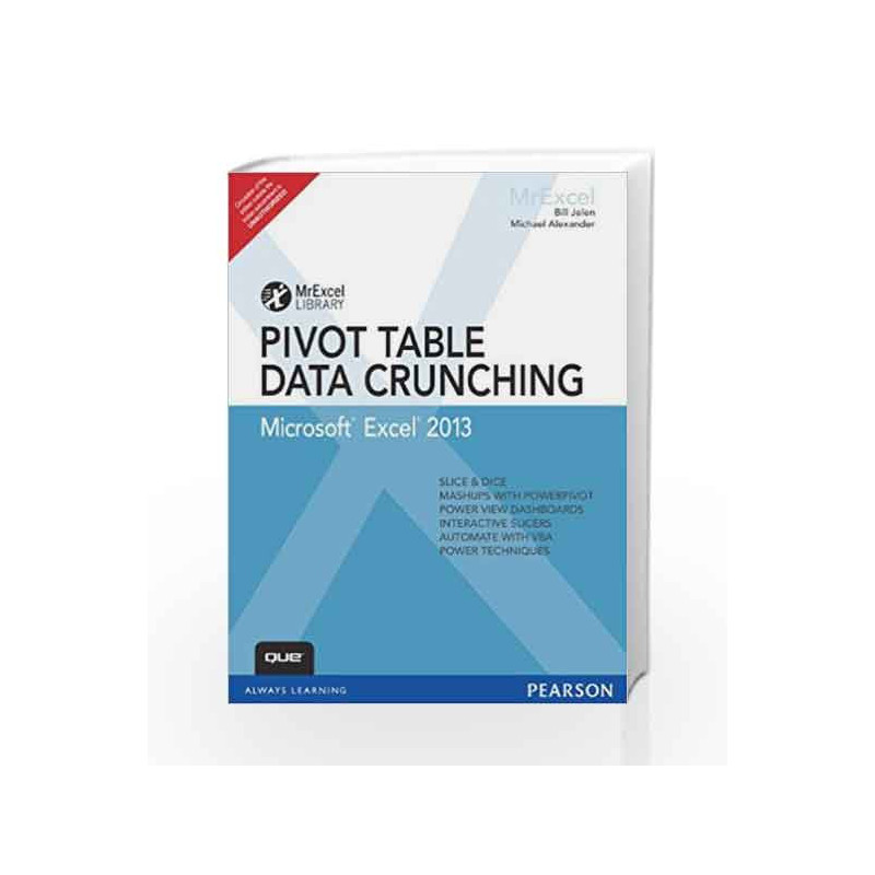 excel 2013 pivot table data crunching 1e by jelen buy online excel