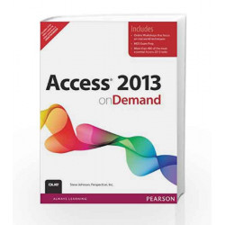 Access 2013 on Demand, 1e by Johnson Book-9789332525092