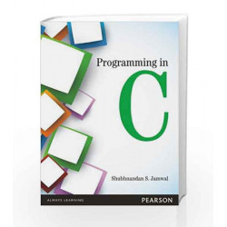 Programming in C, 1e by Jamwal Book-9789332525610