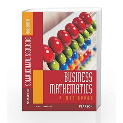 Business Mathematics by Mariappan Book-9789332536340