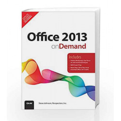 Office 2013 On Demand by Steve Johnson Book-9789332539341
