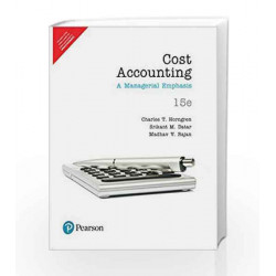 Cost Accounting 15e by Horngren/ Datar/ Rajan Book-9789332542211
