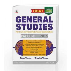 General Studies - Paper II by Edgar Thorpe Book-9789332547049