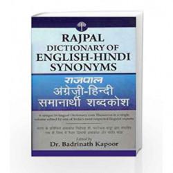 Rajpal Dictionary of English-Hindi Synonyms by Kapur, Badrinath Book-9789350640395