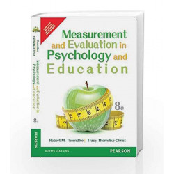 Measurement and Evaluation in Psychology by Thorndike / Thorndike-Christ Book-9789332549821