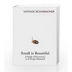 Small Is Beautiful: A Study of Economics as if People Mattered by E F Schumacher Book-9780099225614