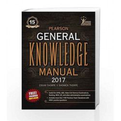 The Pearson General Knowledge Manual 2017 by Thorpe/ Thorpe Book-9789332575202