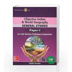 Objective Indian and World Geography by Majid Hussain Book-9789339220617
