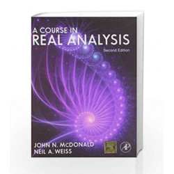 A Course in Real Analysis by McDonald Book-9789381269510