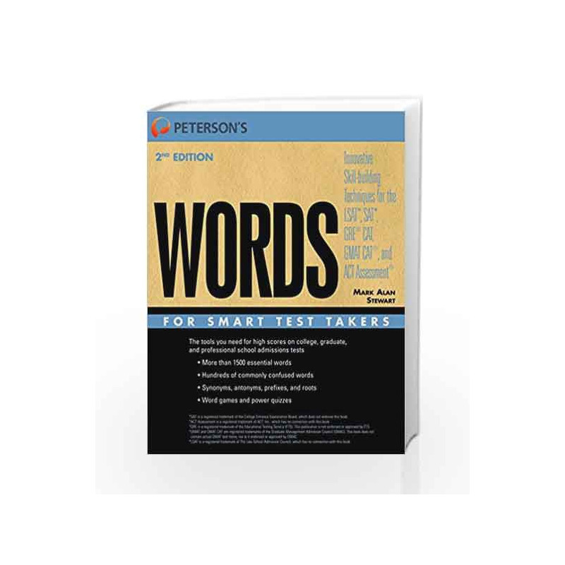 Words for Smart Test Takers (Peterson s) by Stewart, Mark Alan-Buy Online  Words for Smart Test Takers (Peterson s) Book at Best Price in