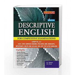 DESCRIPTIVE ENGLISH (For All Competitive Examinations) by S.J. Thakur Book-9789385507021
