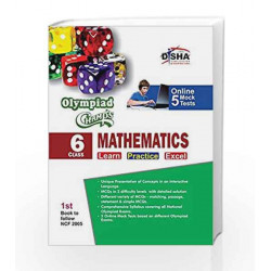 Olympiad Champs Mathematics with 5 Mock Online Olympiad Tests (Class VI) by Disha Experts Book-9789385576249