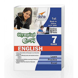 Olympiad Champs English Class 7 with 5 Mock Online Olympiad Tests by Disha Experts Book-9789385846045