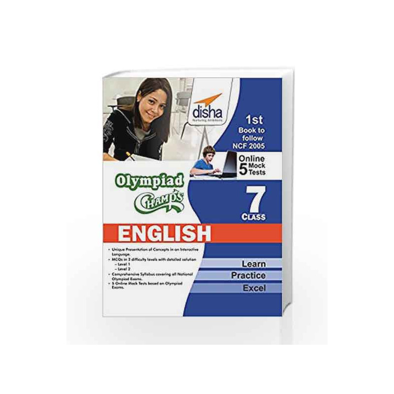 Olympiad Champs English Class 7 with 5 Mock Online Olympiad Tests by Disha  Experts-Buy Online Olympiad Champs English Class 7 with 5 Mock Online