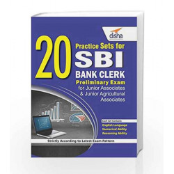 20 Practice Sets for SBI Bank Clerk Preliminary Exam by Disha Experts Book-9789385846762