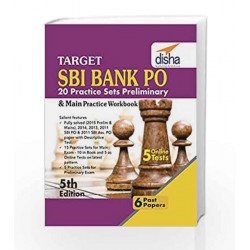 Target SBI Bank Preliminary & Main PO Exam - 20 Practice Sets Workbook with Online Tests by Disha Experts Book-9789385846922