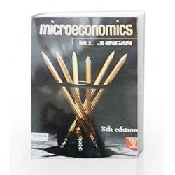 Microeconomics 8/e (PB)....Jhingan M L by Jhingan M L Book-9788182815629