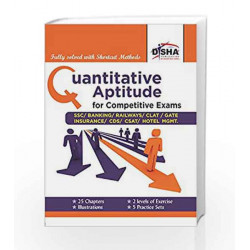 Quantitative Aptitude for Competitive Exams SSC/Banking/CLAT/Hotel Mgmt./Rlwys/CDS/GATE by Disha Experts Book-9789384905323
