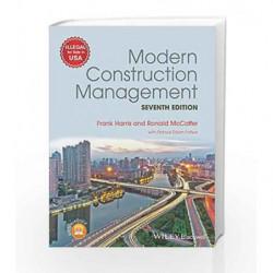 Modern Construction Management 7Ed (Pb 2018) by Harris F Book-9788126572298