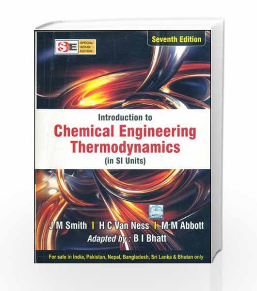 Introduction to chemical engineering thermodynamics by smith van introduction to chemical engineering thermodynamics by smith van sale fandeluxe Choice Image